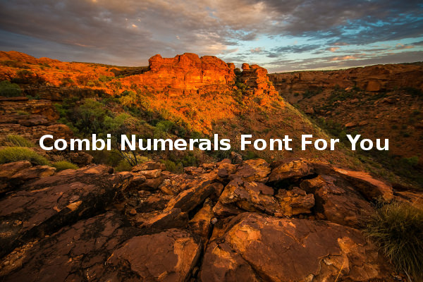 Combi Numerals Font For You