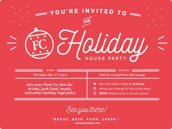 21  holiday party invitation designs
