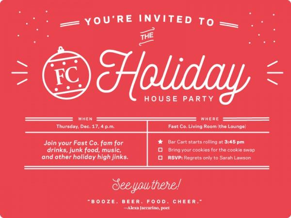 company holiday party invite card