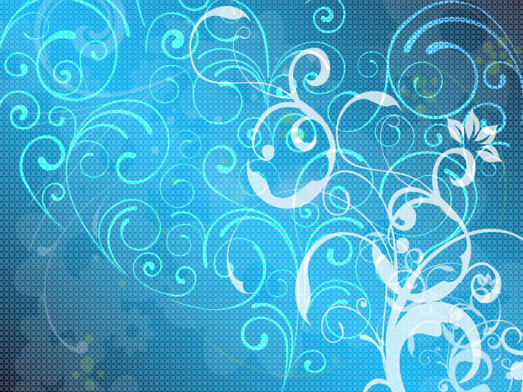 Cool Blue Floral Website Background Wallpaper