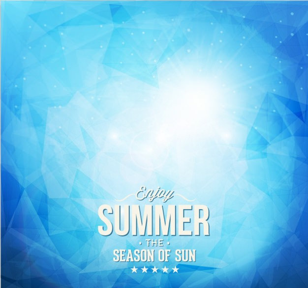 Cool Summer Blue Background Free Vector