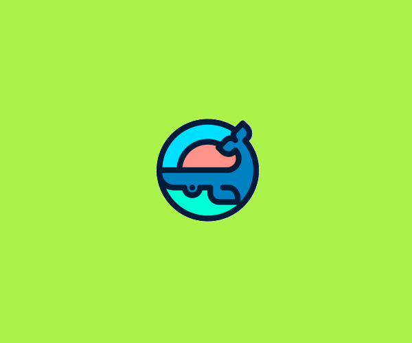Cool Whale Logo Design For Free