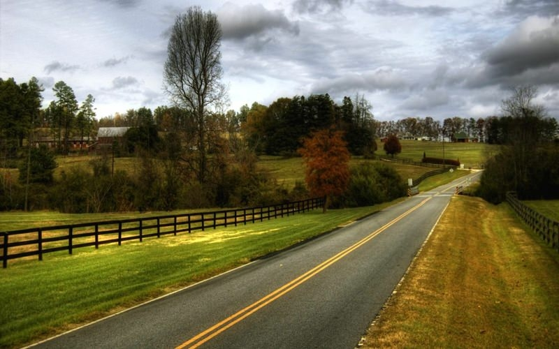 Country Road Background For Free