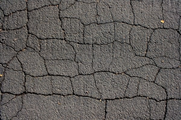 Cracked Black Top Asphalt Pavement Texture