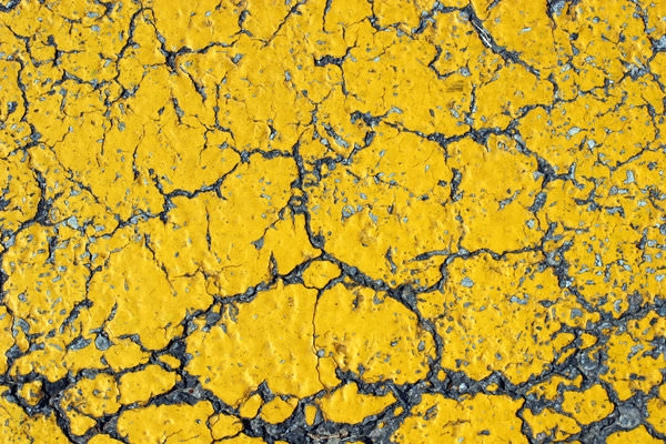 Cracked Yellow Asphalt Texture