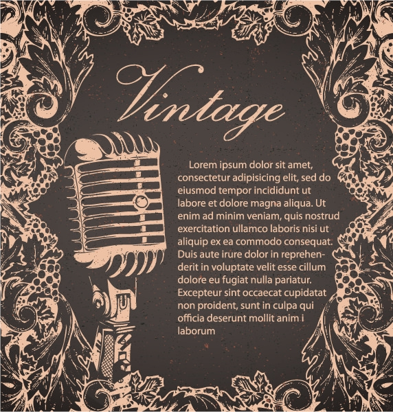 creative vintage music Background