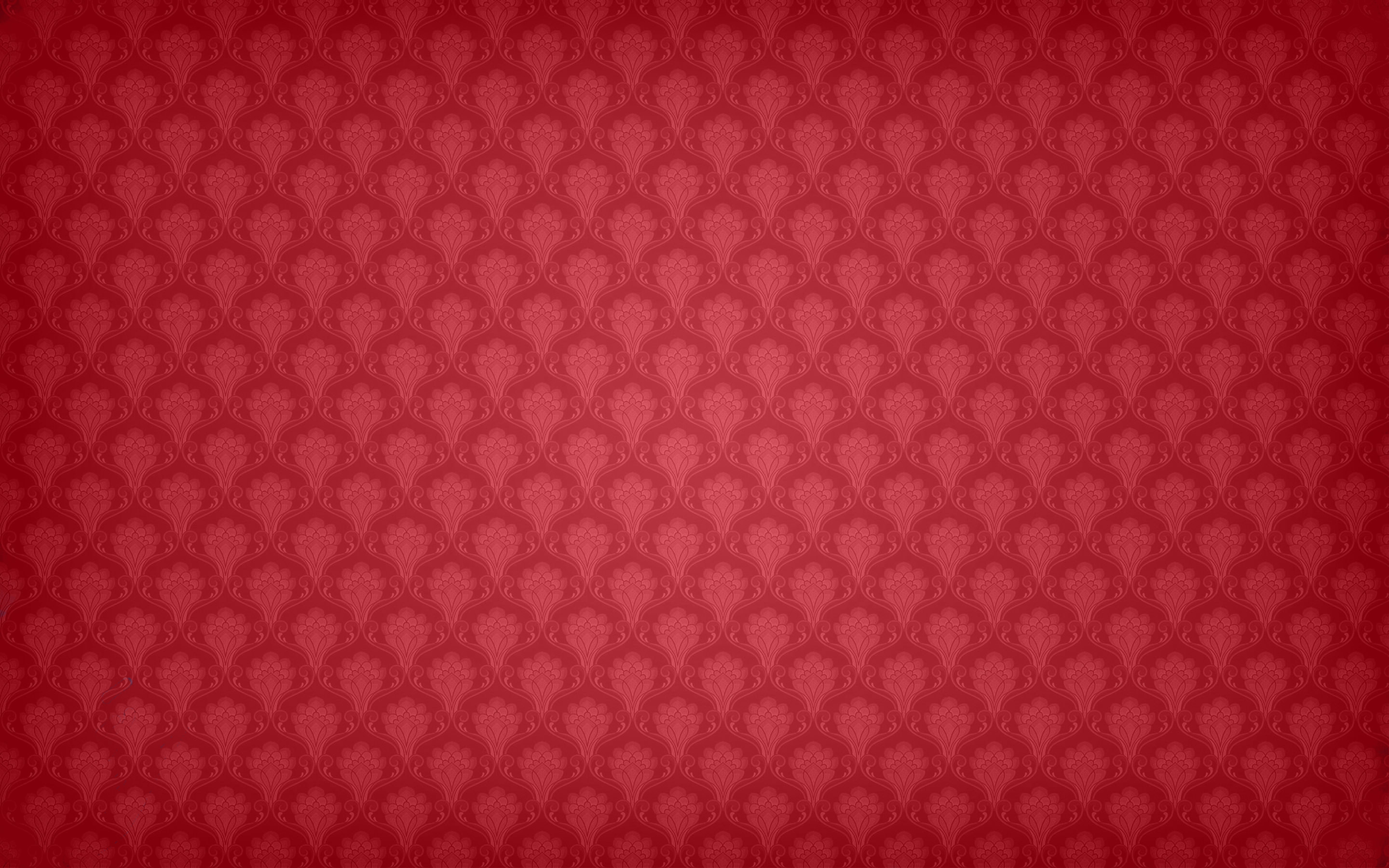 Crimson Red Floral Background Wallpaper
