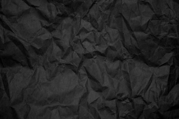 Crumpled Black Paper Texture for Free Download