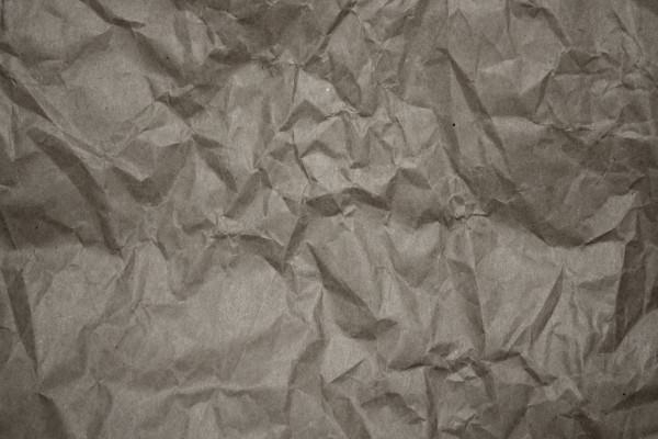 Crumpled Gray Paper Texture