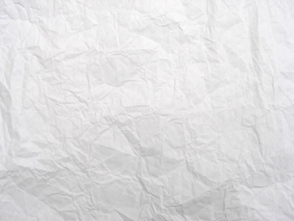 Crumpled White Paper Textures