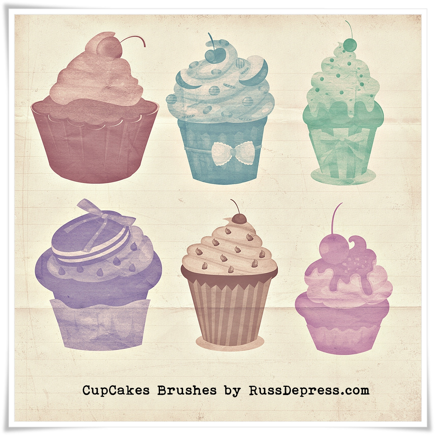 Cup Cakes Brushes for Photoshop