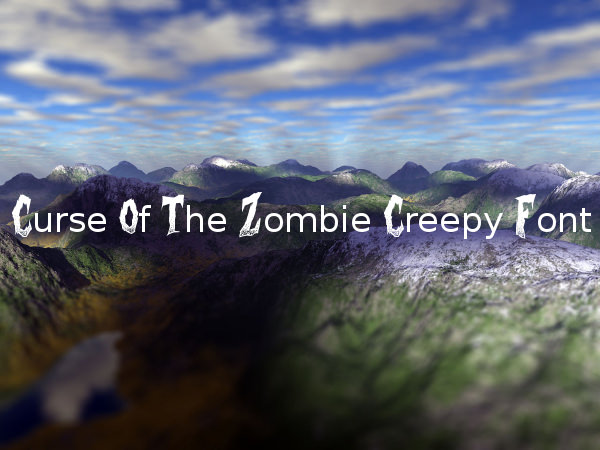 Curse of the Zombie Creepy Font