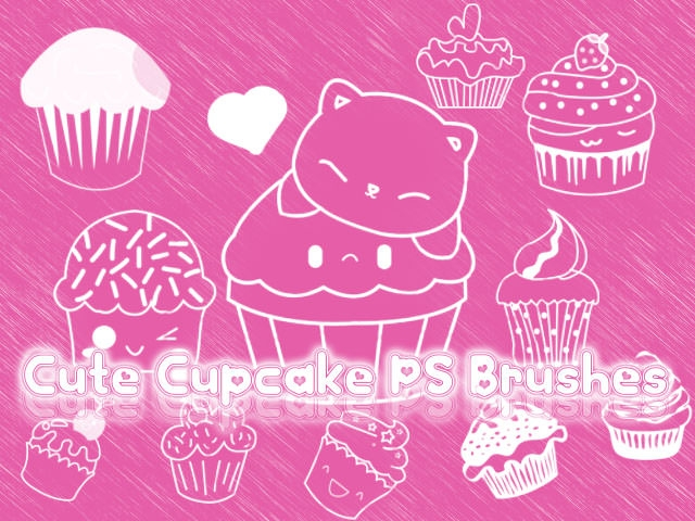 Cute Cupcake Brushes