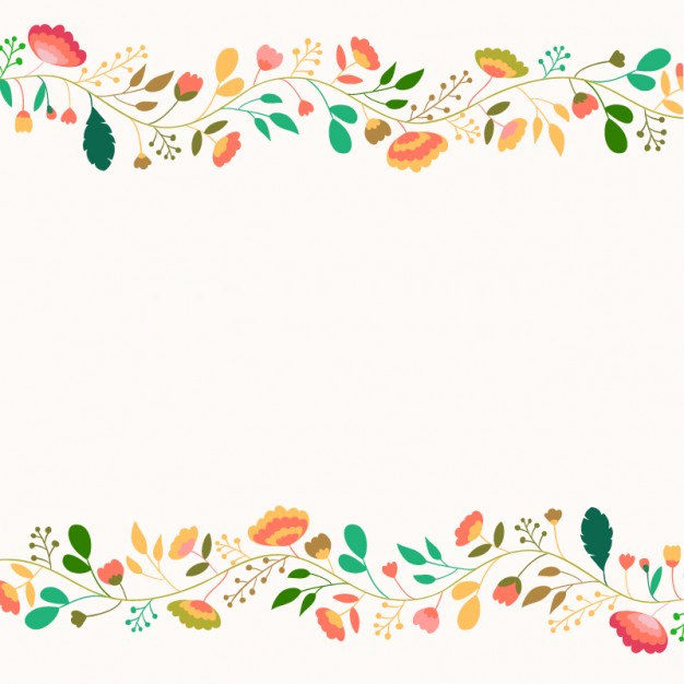 Cute Flowers Background Free Vector