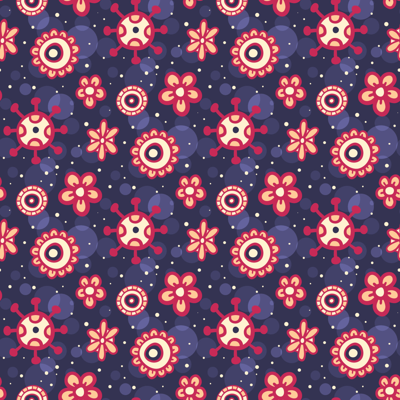 Cute Purple Floral Pattern