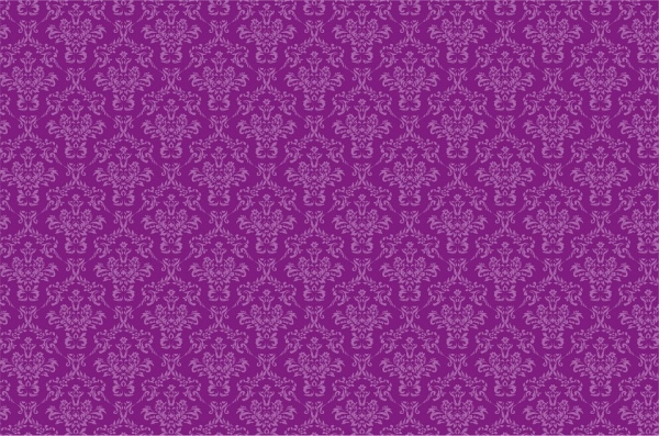 Damask Purple Background
