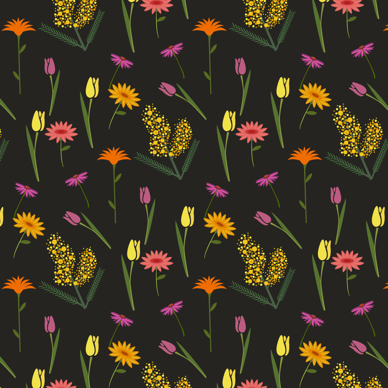 Dark Flower Pattern for Free Download