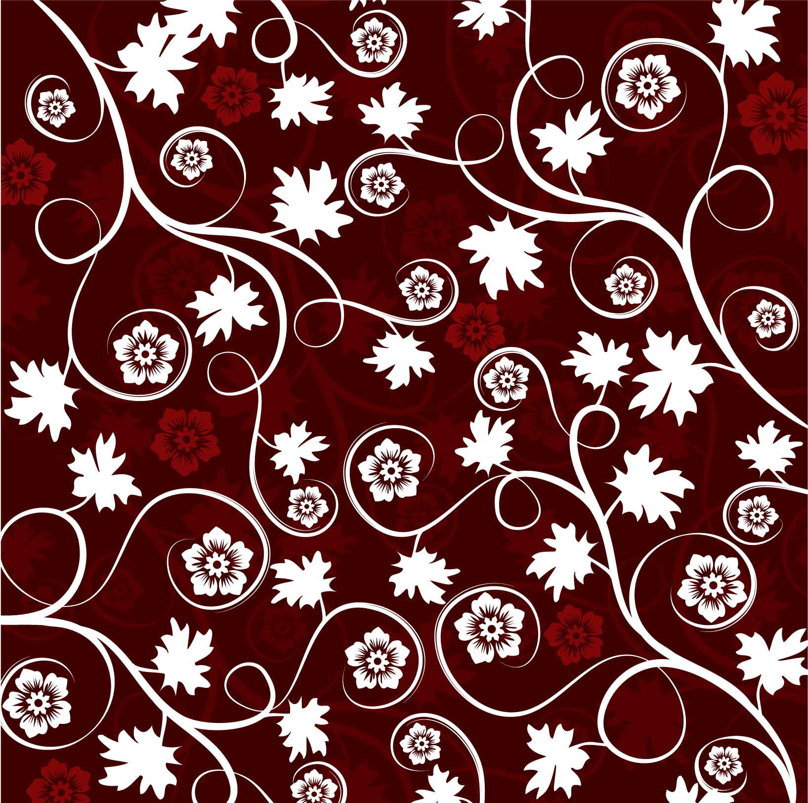 Dark Red Floral Pattern For Free Download