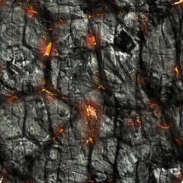 Deep Fire Lava Texture