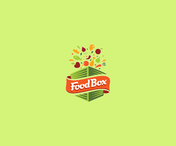 Delicious Food Box Logo For Free