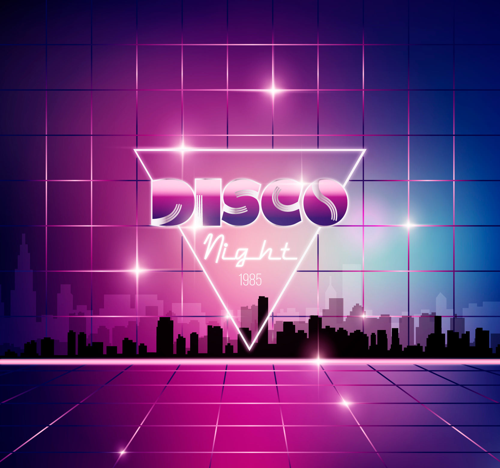 Disco Night Music Party Background