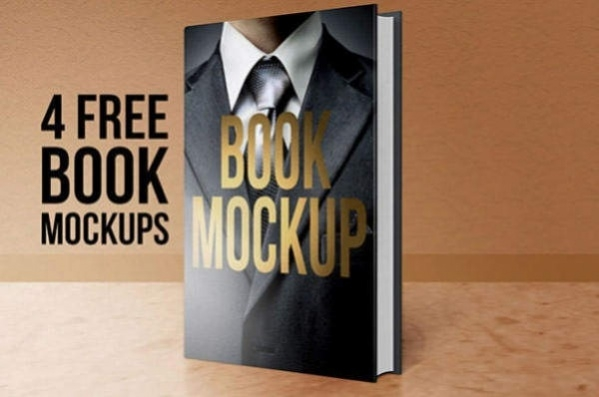Download 4 Realistic Book Cover Mockups