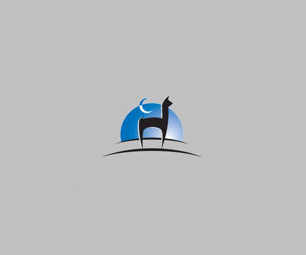download animal moon logo for free