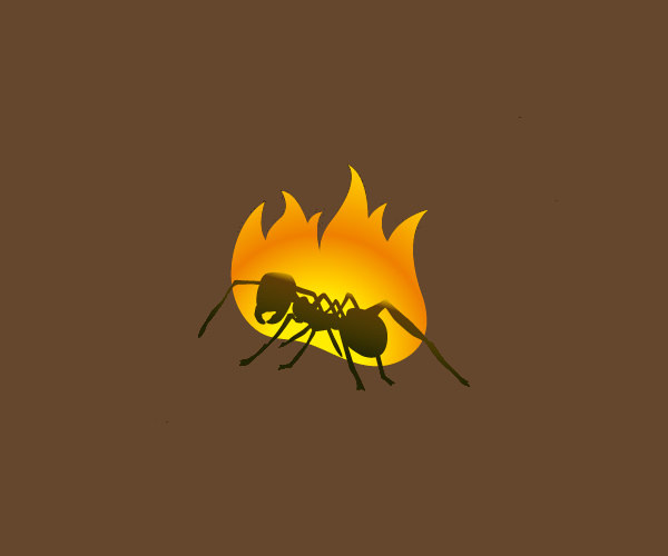 Download Ant On Fire Logo For Free