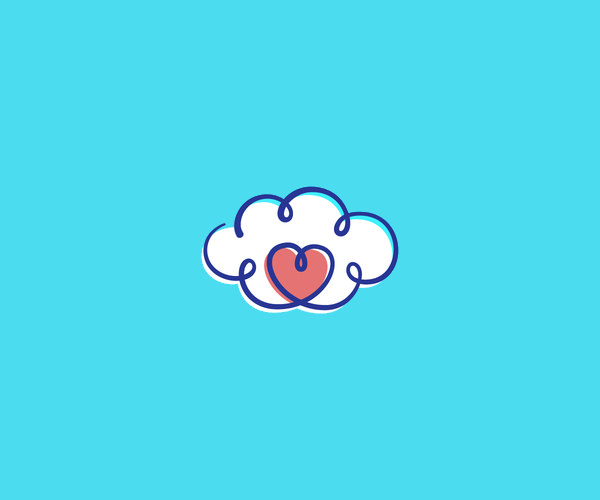 Download Cloud Heart Logo For Free
