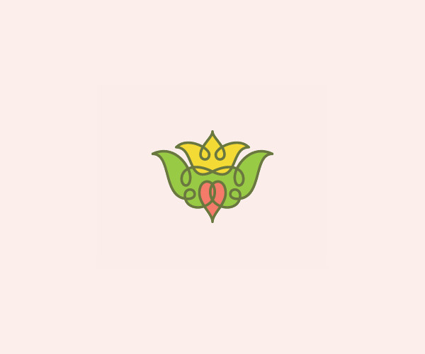 Download Crown Flower Logo For Free