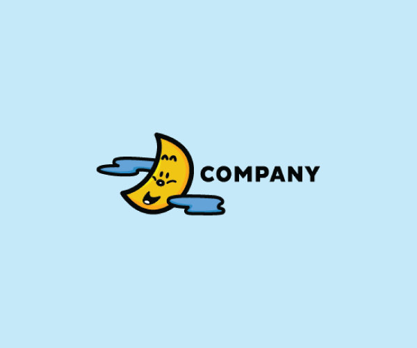 download cute moon logo for free