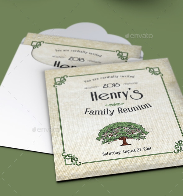 Download Family Reunion Invitation Card Template