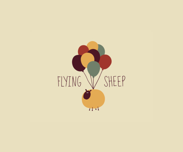 Download Flying Sheep Balloon Logo