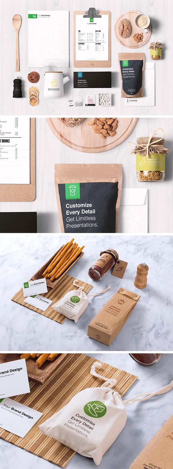 Download food packaging mockup