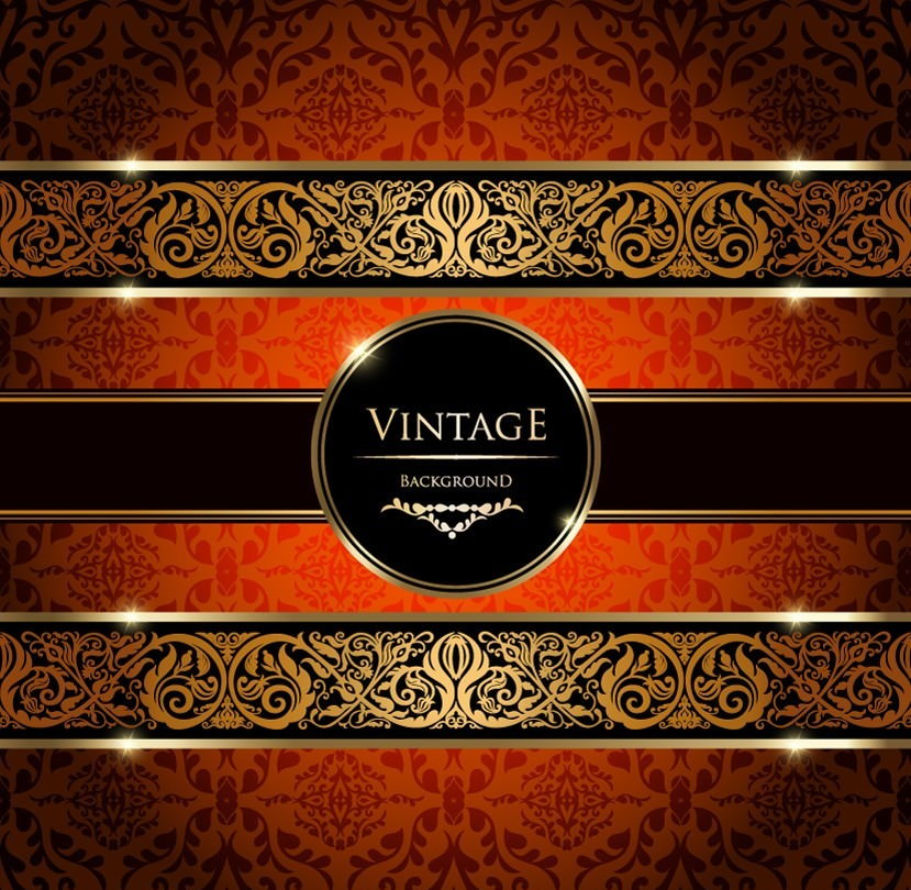 Download Free Gold Damask Vintage Background Vector