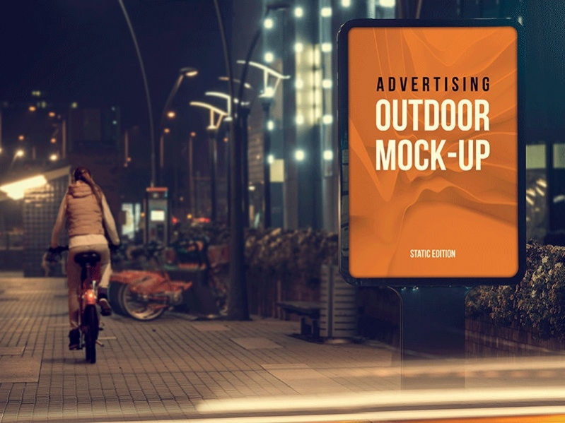 Download Free Outdoor Ad Mockup