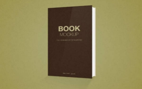 Download Free PSD Book Cover Mockup