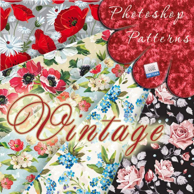 Download Free Photoshop Vintage Floral Patterns