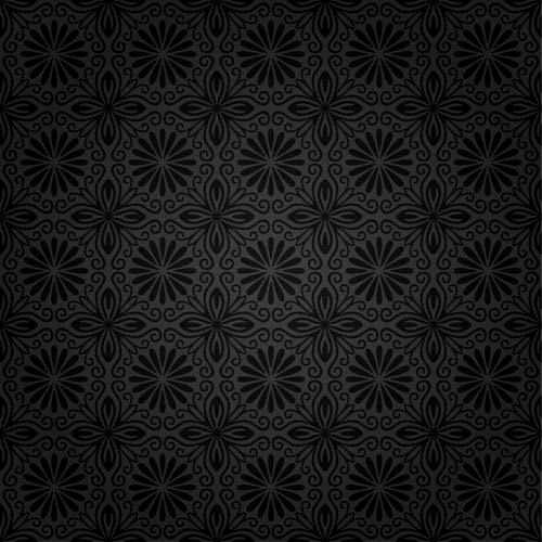Download Free Vector Dark Ornate Seamless Floral Patter