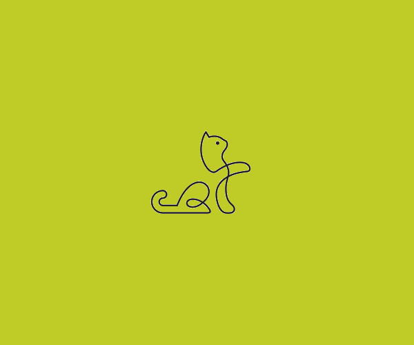 Download Line Cat Logo For Free