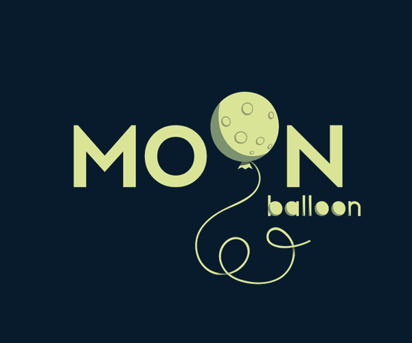 Download Moon Balloon Logo For Free