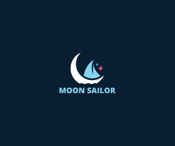 download moon sailor logo for free