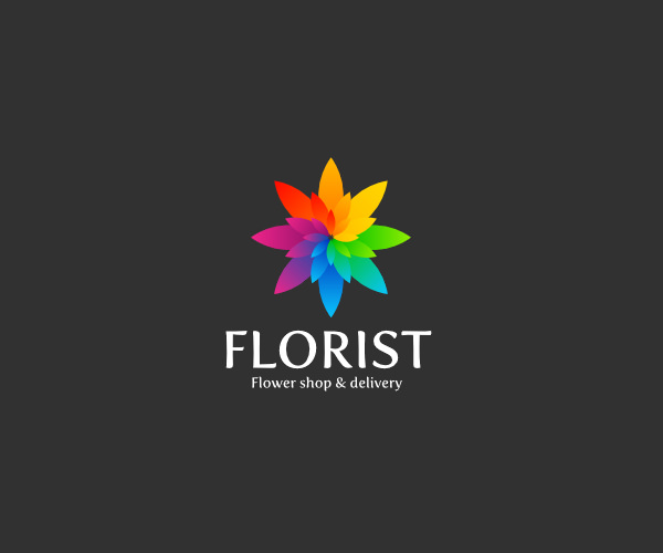 Download Rainbow Flower Logo For Free