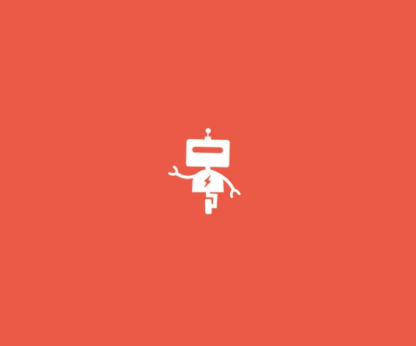 Download Roller Robot Logo Design For Free
