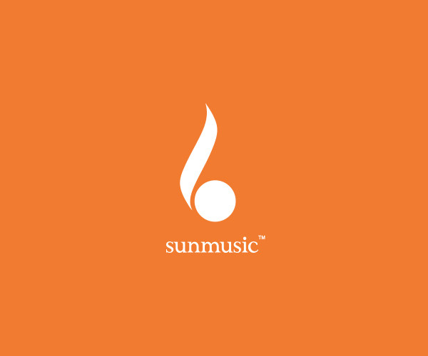 Download Sun Music Logo Design For Free
