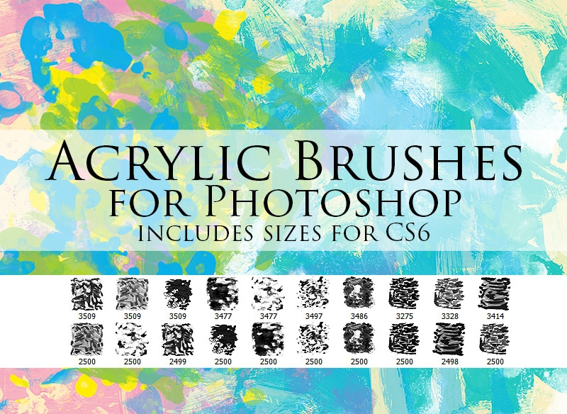 Download Zummerfish Acrylic Brushes for Photoshop