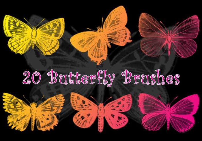 Downloadable Butterfly Photoshop Brushes