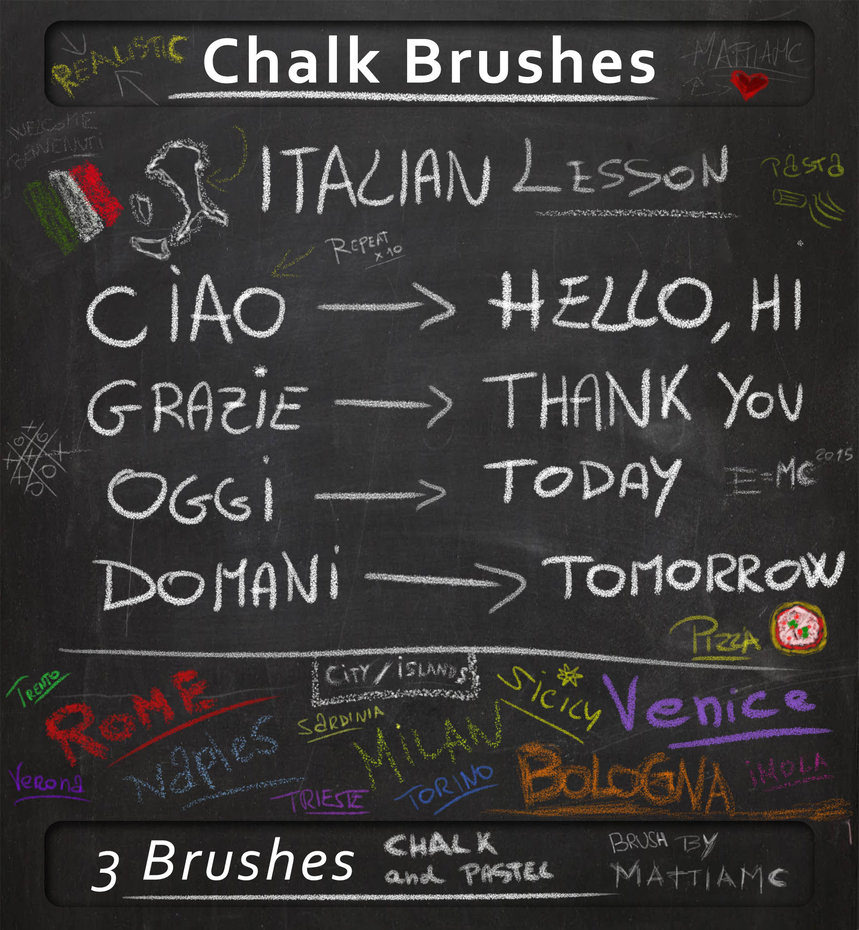 Downloaf free PSD Chalk Brushes
