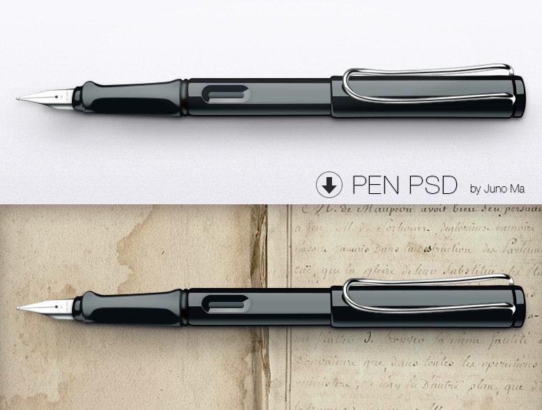 Editable Free Pen Mockups