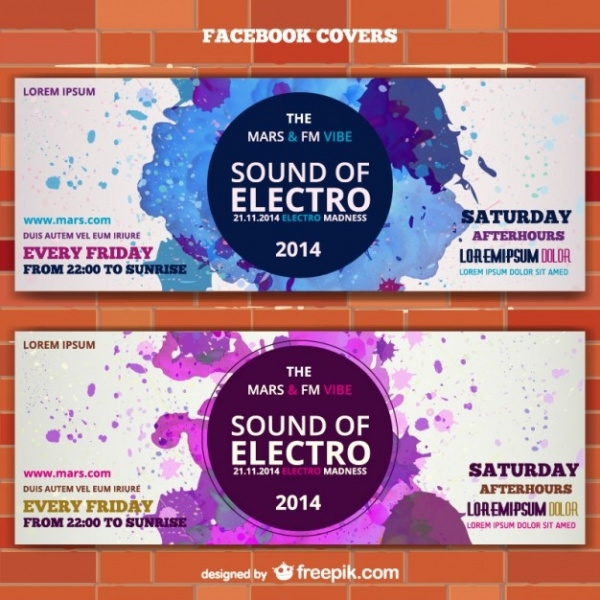 Electro Music Banner Event Ticket